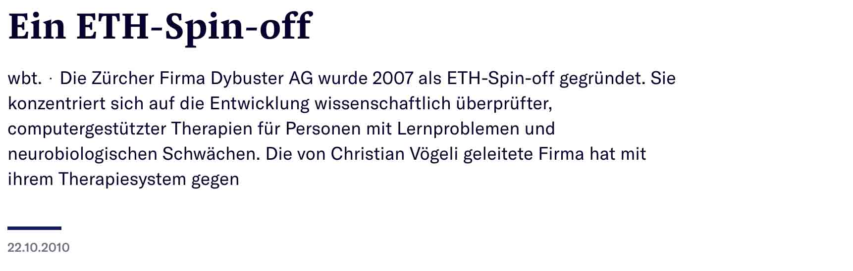 NZZ_ETH_Spin-off_22.10.2010